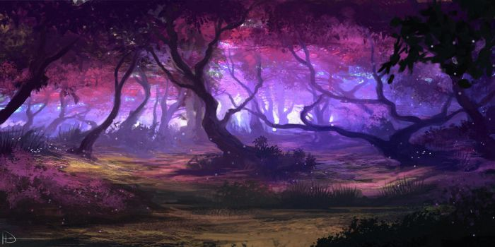 Purple Forest by Ninjatic