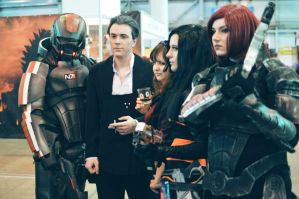 Two Shepards, Miranda and TIM at Starcon 2015 by e115sa