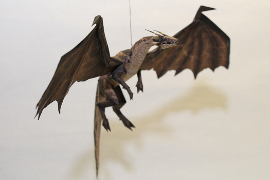 Drakan - Brown Dragon Papercraft by Metalfist0