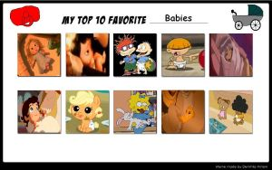 My Top 10 Babies Meme by Nicktoons4ever