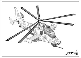 combat helicopter by JoseManuelSerrano