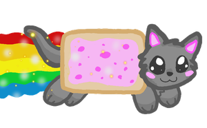 kawaii nyan cat by P0CKYY