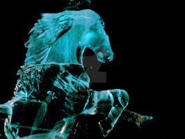 Ice horse Blue by veritasBtold