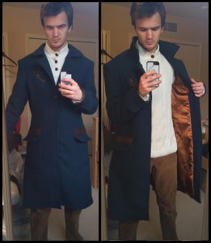 Newt Scamander cosplay coat (lining) by TimeyWimey-007
