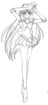 Sailor Venus by xuweisen (lineart) by MissLily1990