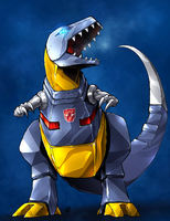 TFG1 - Grimlock In color. Woo. by BLACK-HEART-SPIRAL