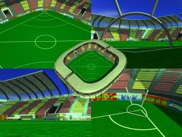 Captain Mouthguard Stadium by zakazen