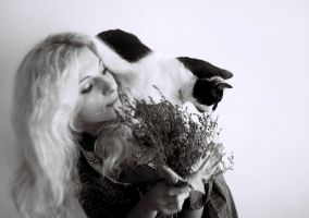a girl and her cat by IrinaJoanne