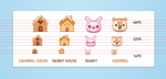 Candy house icon set by nicworks