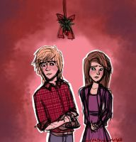 Gift - Jennette and Gavroche - Mistletoe by northernwatertribe