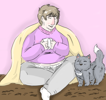 Happiness is Tea and Cats by Sheyff