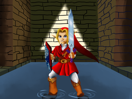 Commission: Goron Tunic Link by TheNoodleFace