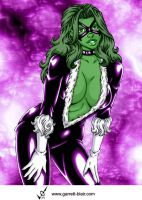 She Hulk as Black Cat by Mythical-Mommy
