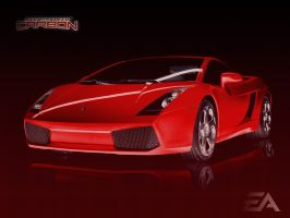 Need For Speed Gallardo by Tiger-pup