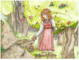 Erin's Hobbit and Warg by Aerio-chan