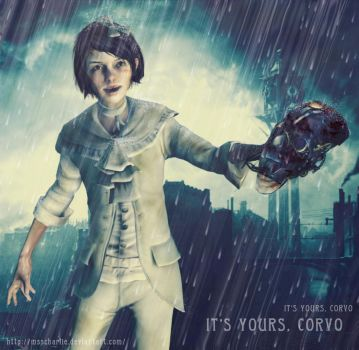 Dishonored Emily - It's yours, Corvo by MssCharlie