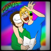 HOMOS! HOMOS EVERYWHERE CRY~ by Sobbie-Chan