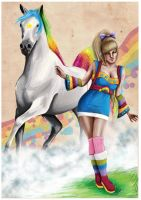 Rainbow Brite and Starlite by AllMortalKombat