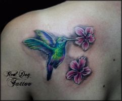 Marias HummingBird by Reddogtattoo