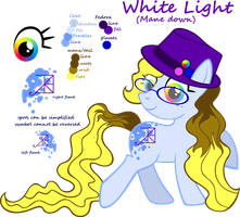 White Light -updated simplified- -mane down- by Akili-Amethyst