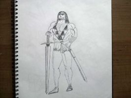 Guy and sword by TheBlackNotebook