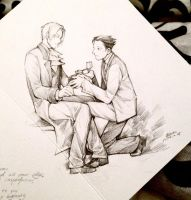 Phoenix Proposes To Miles Doodle by Ribelle by TarmaHartley