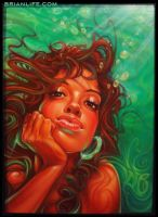 Aqua Girl by brianlife