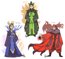 Pokemon: The Three Kingdoms Pokegijinkas by ky-nim