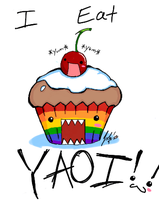 Yaoi cupcake by RastaPickney-Juls