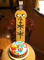 Birthday Cake and KYX Paddle by robinhawk77