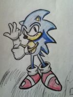 Classic Sonic Drawing #3 by Lincik123