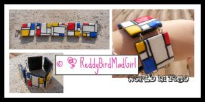 Mondrian Collection: Bracelet 2 by ReddyBirdMadGirl
