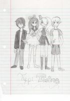 Tippi Twins School Doodle # 1 by Angelwing8