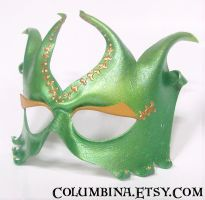 Venetian Gold - leather mask by Alyssa-Ravenwood