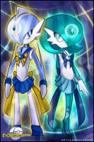 Dawn Stone and Sun Stone by GBIllustrations