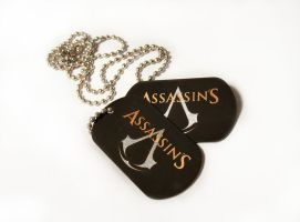 Asassin's Creed dog tags by Katlinegrey