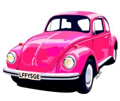A Pink Bug by loffysage