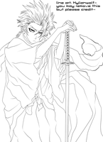 -Ronin Hitsugaya- Line art by Hylianwolf