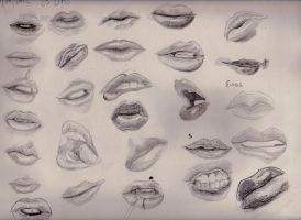 lip study by apcMurray