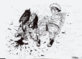 Naruto and Sasuke by Englehart