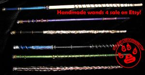 New Wizard Wands on Etsy 4 Sale by lady-cybercat