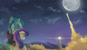 To the moon by Ardail