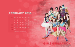 Calendar Wallpaper - February 2016 - GG by edinaholmes
