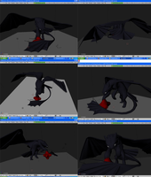 toothless 3d model WIP by Foxbat-Sullavin