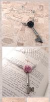 Key Necklaces and Earrings by zetallis