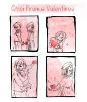 Chibi France Valentines by dieingcity