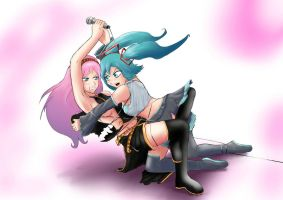 Fight vocaloid by wulfsaga