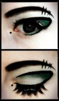 Cyber-Green Makeup by Emmaretta
