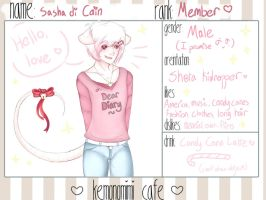...:Sasha di Cain:....:Kemonomimi-Cafe:... by adair408