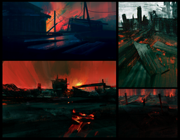 Fire Sketches by parkurtommo